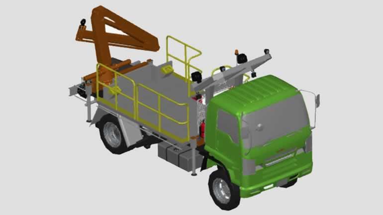 kamyon autocad katı model indir