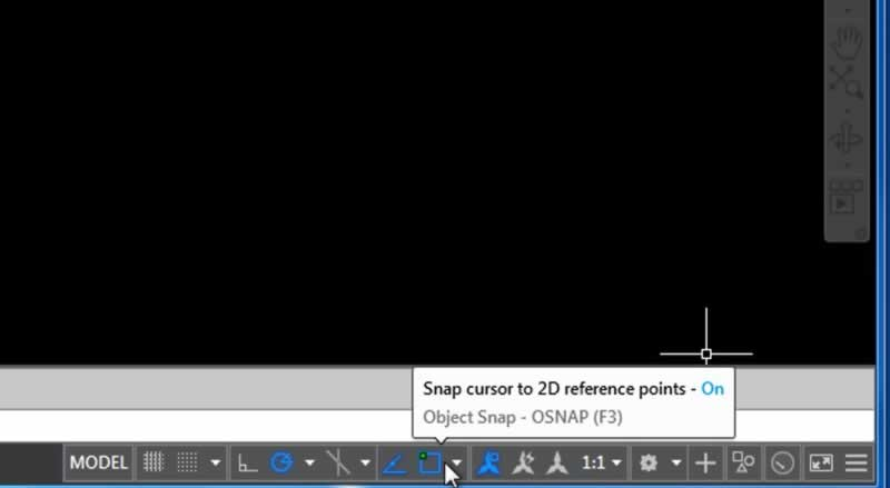 autocad object snap