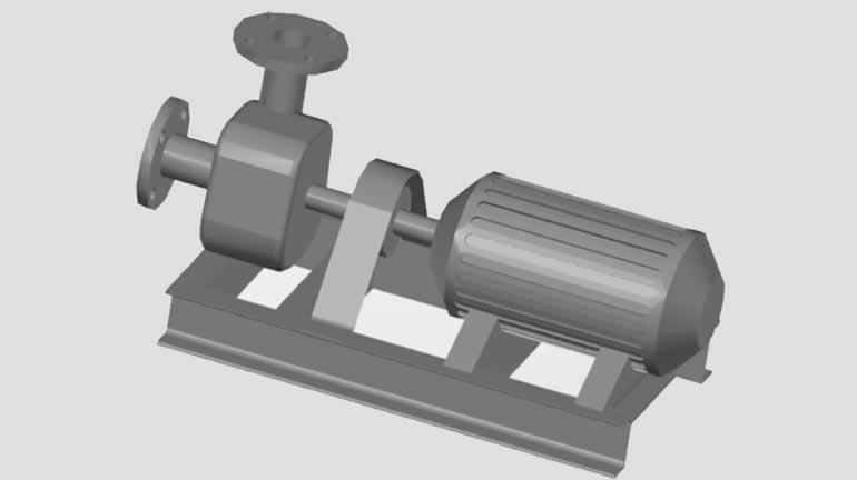 pompa katı model dwg indir