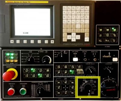 fanuc cnc torna mod select switch