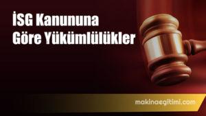 6331 İSG Kanununa göre Yükümlülükler