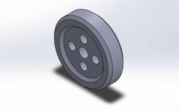 solidworks top arabası tekeri çizimi