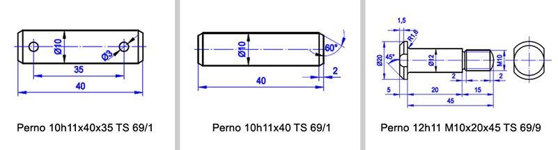 perno çeşitleri teknik resim