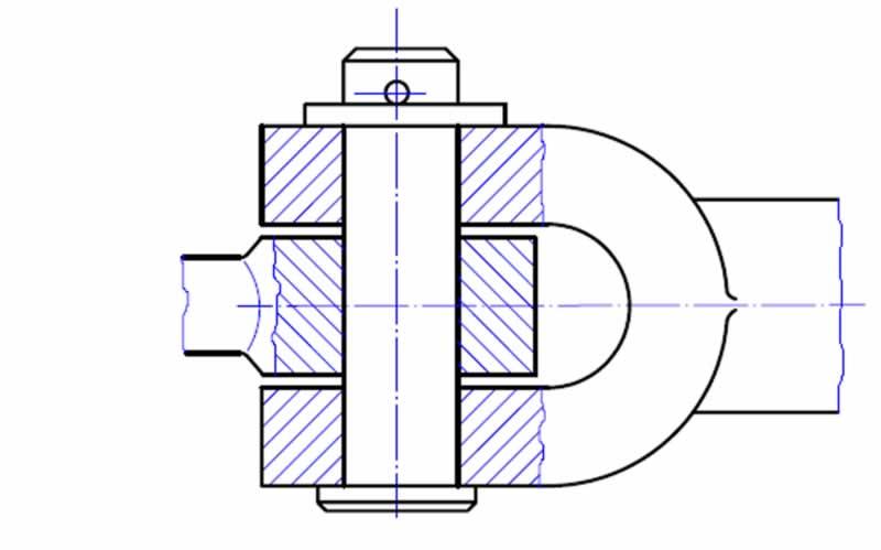 perno ile birleştirme teknik resim