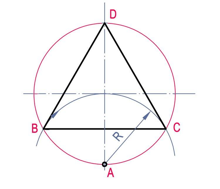 çokgen çizimleri daire içine üçgen çizme