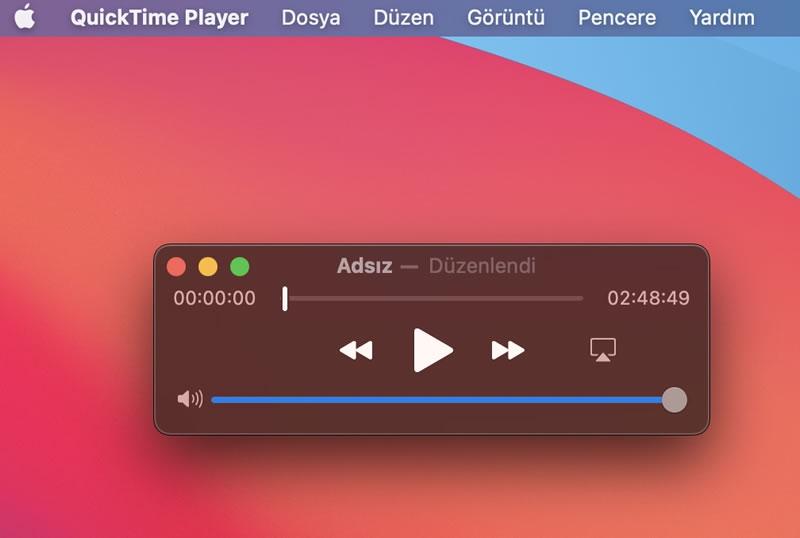 Mac OS Macbook videoyu ses dosyasına dönüştürme