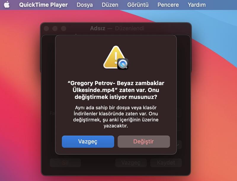 Macbook programsız video düzenleme