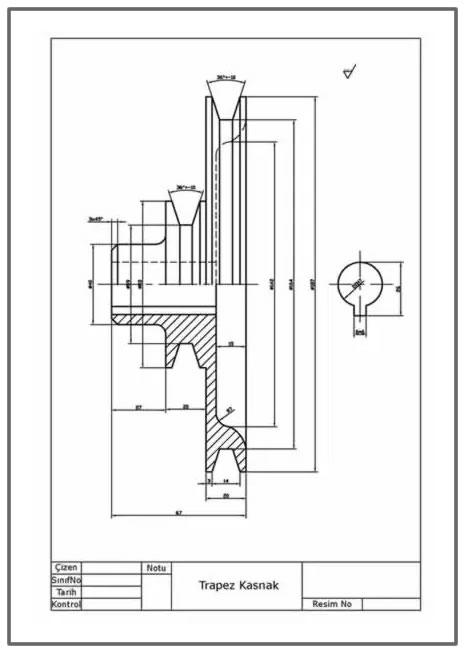 Trapez V kasnak yapım resmi