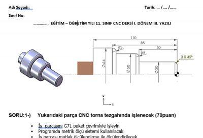 cnc sınav örnekleri
