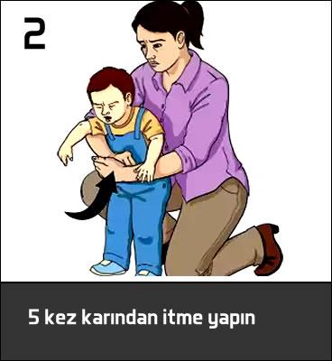 boğulan çocuğa ilk yardım heimlich manevrası